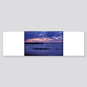 Purple Sunset over Lake Erie Bumper Sticker