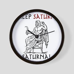 Keep Saturn in Saturnalia Wall Clock