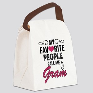 My Favorite People Call Me Gram Canvas Lunch Bag