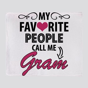 My Favorite People Call Me Gram Throw Blanket