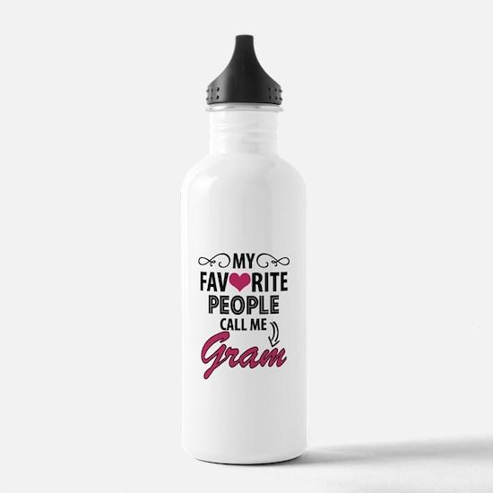 My Favorite People Call Me Gram Water Bottle