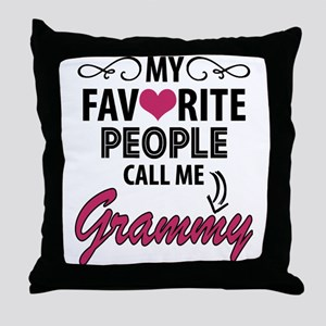My Favorite People Call Me Grammy Throw Pillow