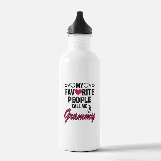 My Favorite People Call Me Grammy Water Bottle