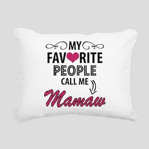 My Favorite People Call Me Mamaw Rectangular Canva