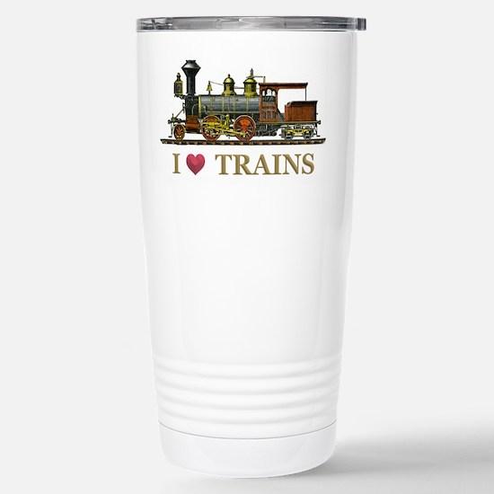 I Love Trains Stainless Steel Travel Mug