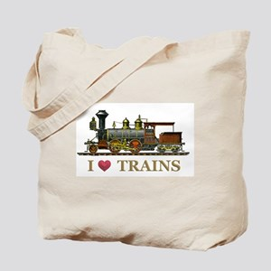 I Love Trains Tote Bag