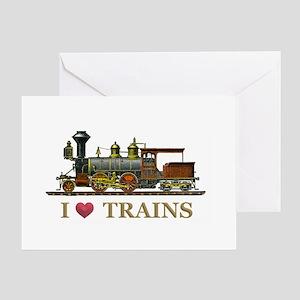 I Love Trains Greeting Card