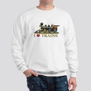 I Love Trains Sweatshirt