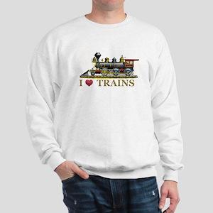I Love Trains Sweatshirt