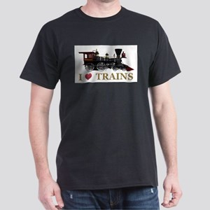 I Love Trains Dark T-Shirt