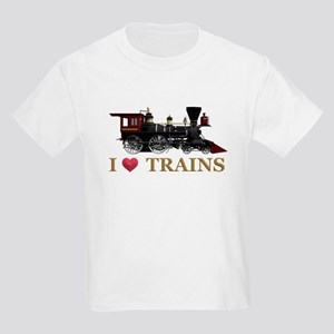 I Love Trains Kids Light T-Shirt