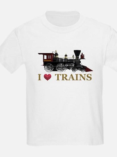 I Love Trains T-Shirt