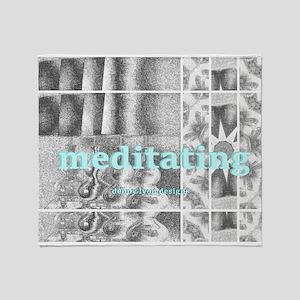Meditating Theme Day Throw Blanket