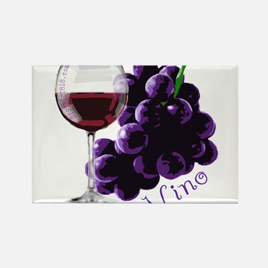 Cute Red wine grapes Rectangle Magnet