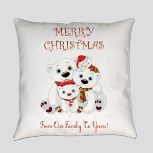 MERRY CHRISTMAS Everyday Pillow