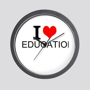 I Love Education Wall Clock
