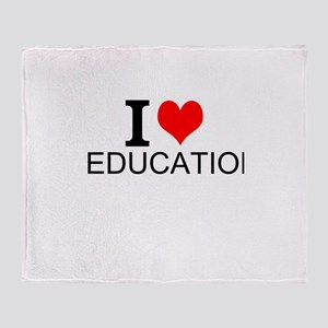 I Love Education Throw Blanket