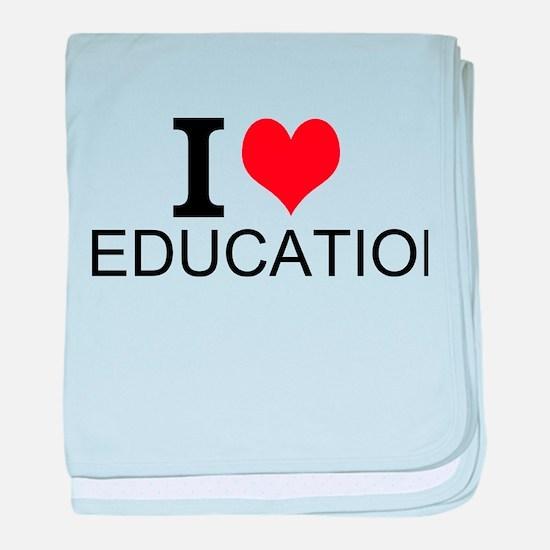 I Love Education baby blanket