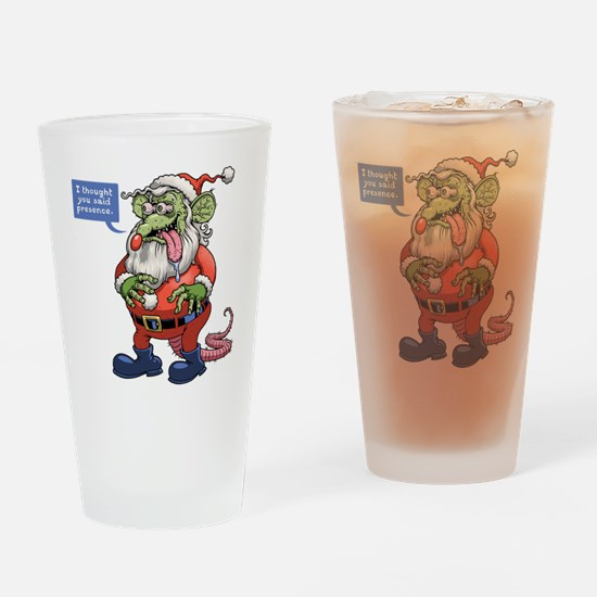 Rat Claus Drinking Glass