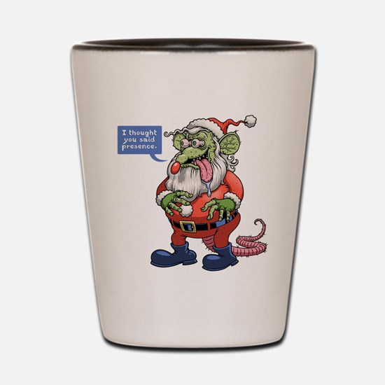 Rat Claus Shot Glass