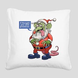 Rat Claus Square Canvas Pillow