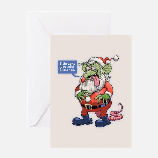 Rat Claus Greeting Card
