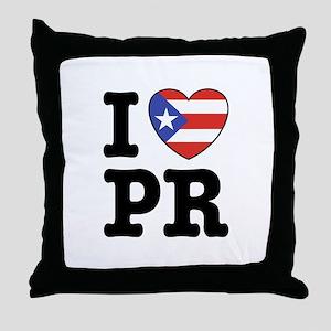 I Love PR Throw Pillow