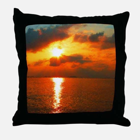 Funny Sunrise Throw Pillow