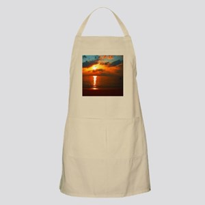 red sunrise painted with small brush strokes Apron