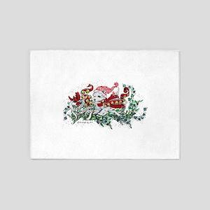 Westie White Christmas 5'x7'Area Rug