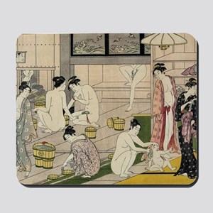 asian geisha bathhouse Mousepad