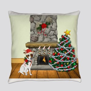 A Jack Russell Christmas Everyday Pillow