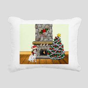A Jack Russell Christmas Rectangular Canvas Pillow