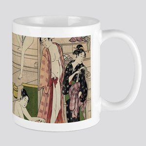 asian geisha bathhouse Mugs
