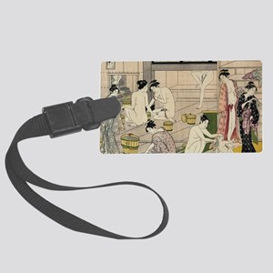 asian geisha bathhouse Large Luggage Tag