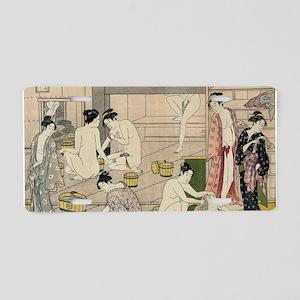 asian geisha bathhouse Aluminum License Plate