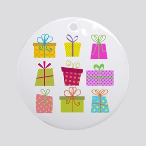 HOLIDAY PACKAGES Round Ornament