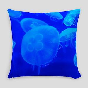 BLUE JELLYFISH 1 Everyday Pillow