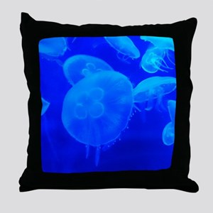 BLUE JELLYFISH 1 Throw Pillow