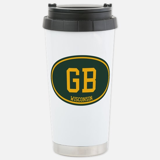 Green Bay Stainless Steel Travel Mug