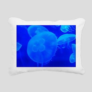 BLUE JELLYFISH 1 Rectangular Canvas Pillow