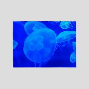 BLUE JELLYFISH 1 5'x7'Area Rug