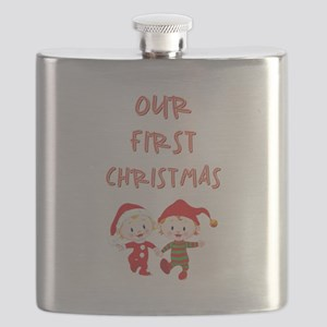 OUR 1ST CHRISTMAS Flask