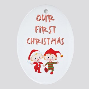 OUR 1ST CHRISTMAS Oval Ornament