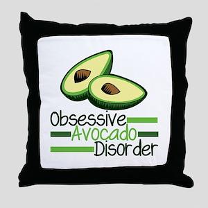 Cute Avocado Throw Pillow