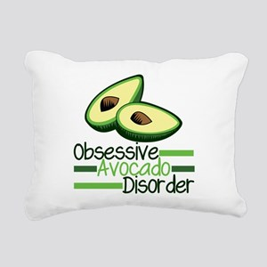Cute Avocado Rectangular Canvas Pillow