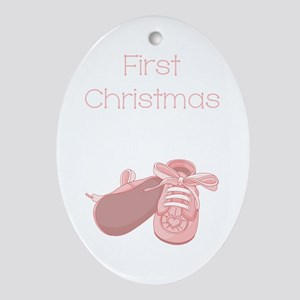 FIRST CHRISTMAS Oval Ornament