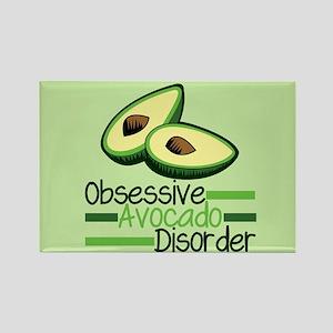 Cute Avocado Rectangle Magnet