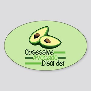 Cute Avocado Sticker (Oval)