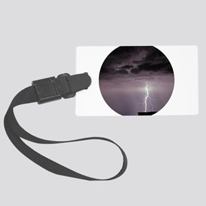 Lightning over Arches National P Large Luggage Tag